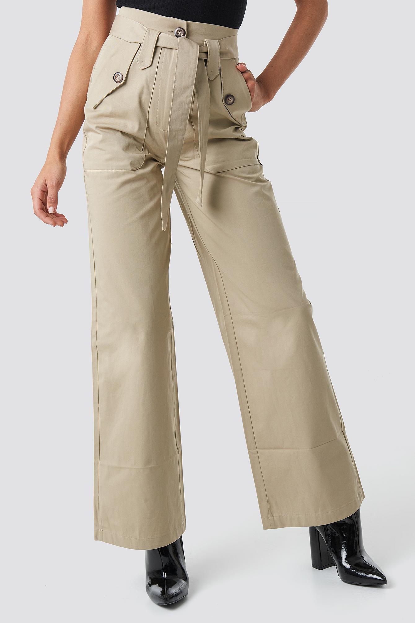Belt Pocket Detailed Pants NA-KD.COM