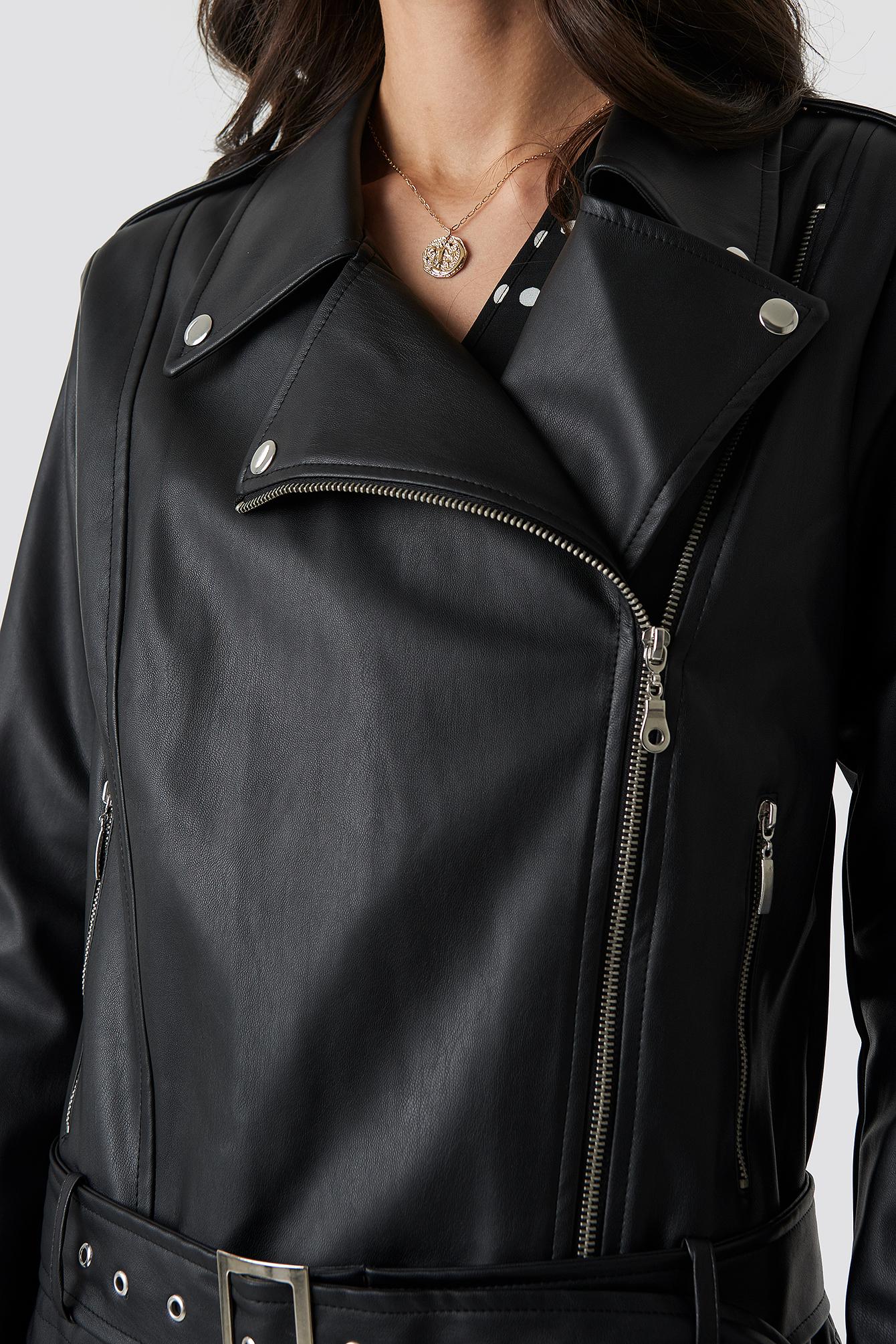 Belted Biker Jacket NA-KD.COM