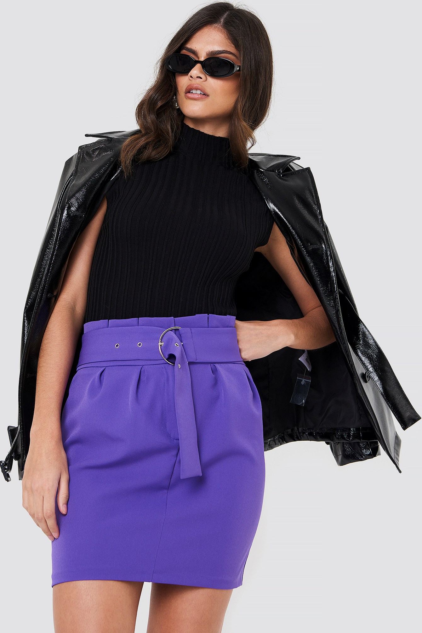 Belted Highwaist Mini Skirt NA-KD.COM