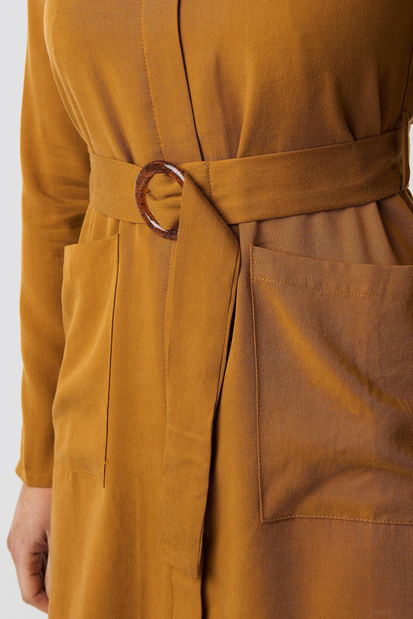 Belted Midi Dress NA-KD.COM