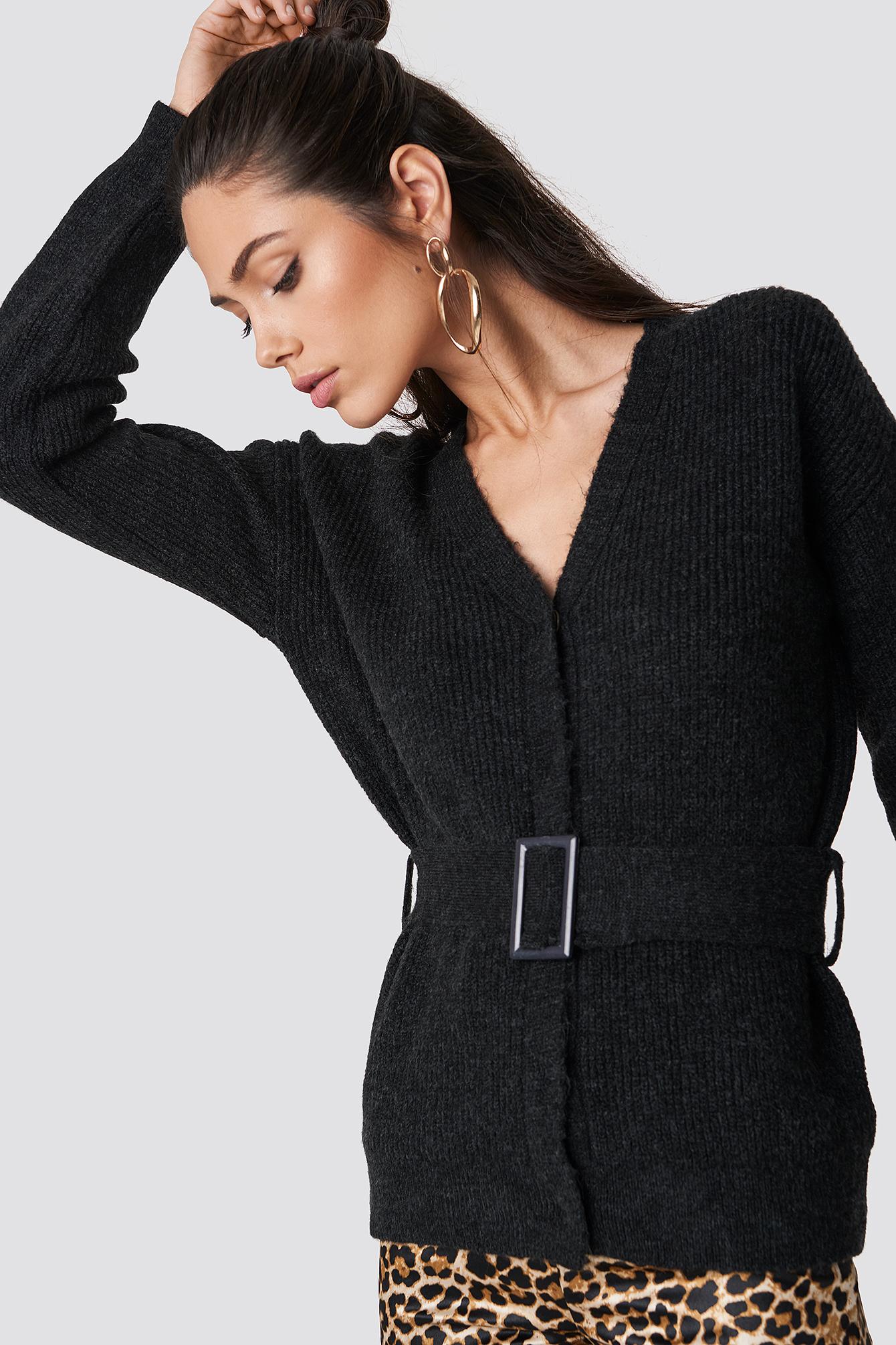 Belted Waist Cardigan NA-KD.COM