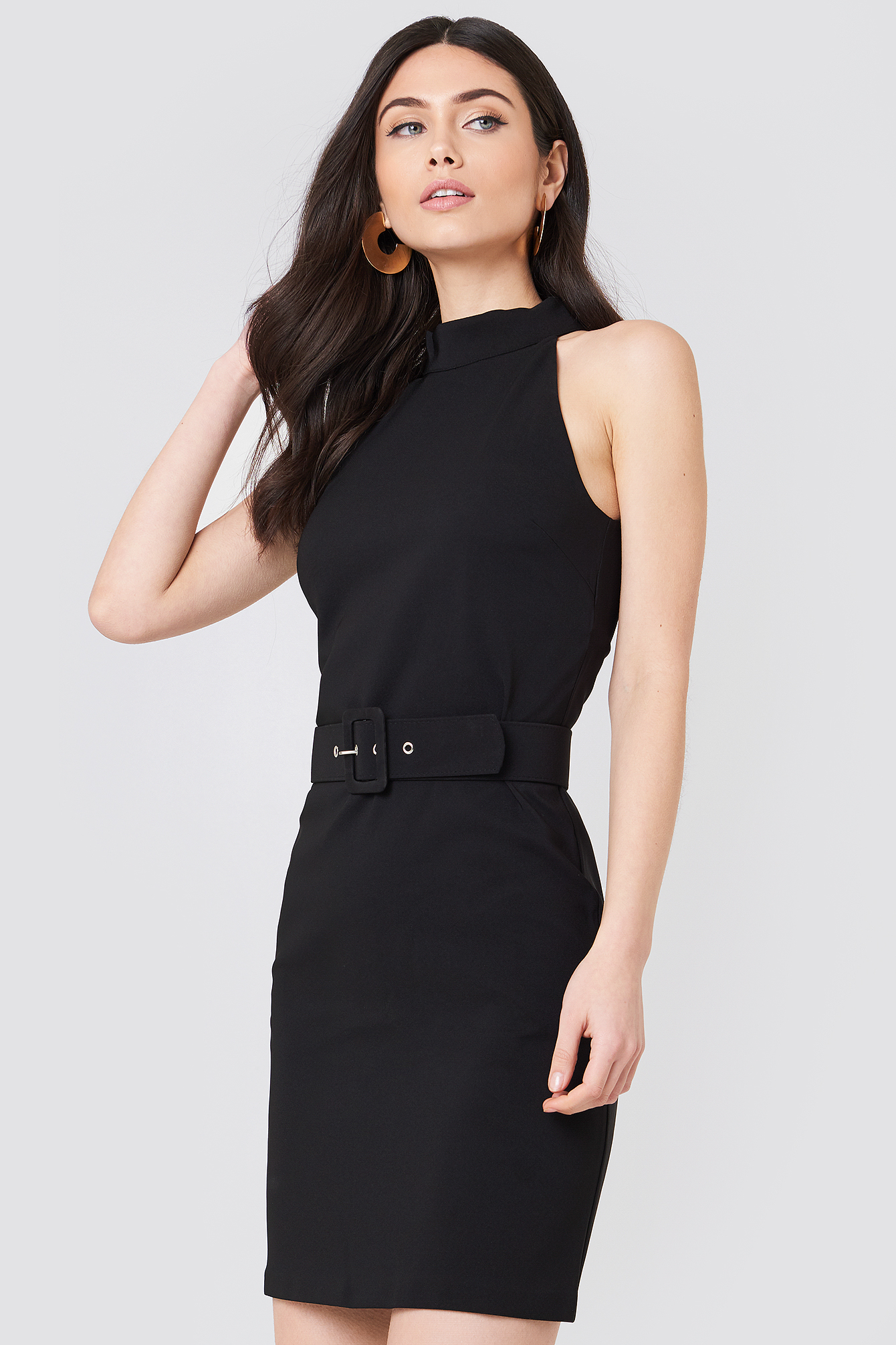 Belted Waist Dress NA-KD.COM