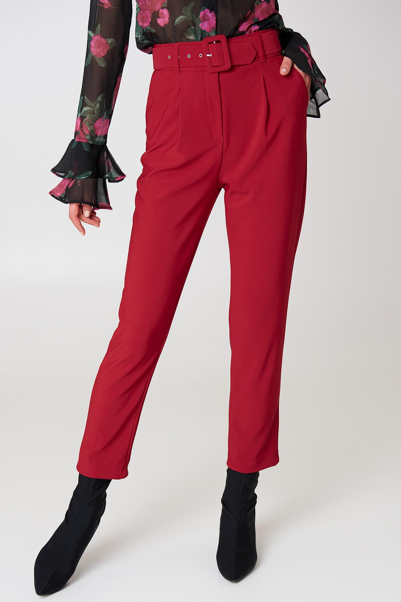 Belted Waist Trousers NA-KD.COM