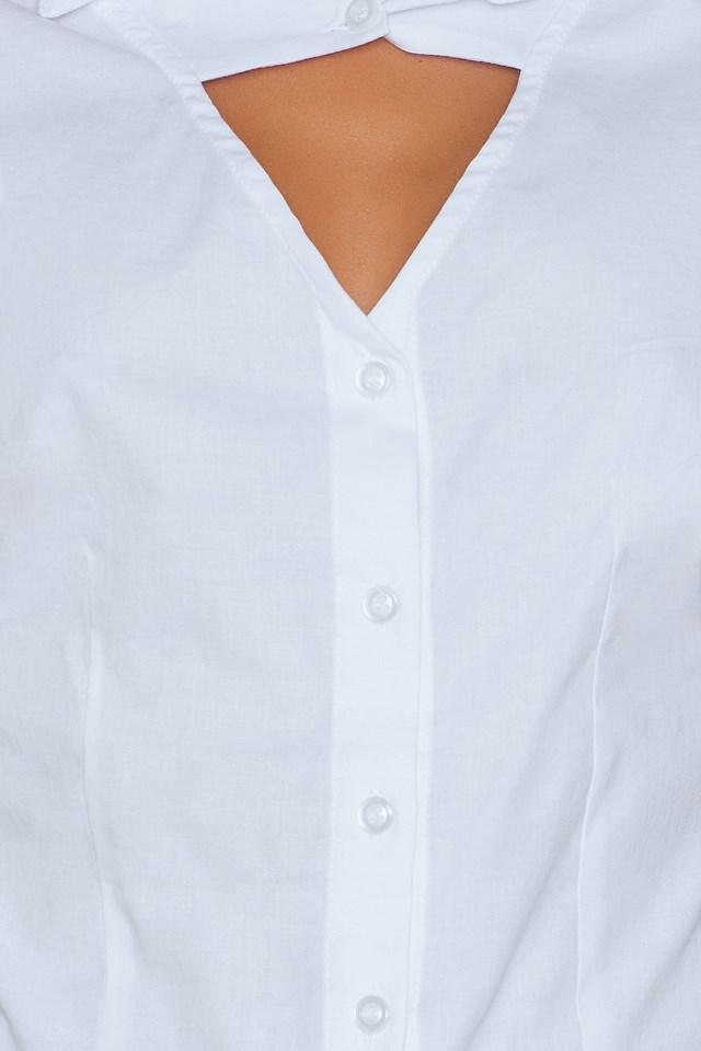 Beyaz Frill Blouse White