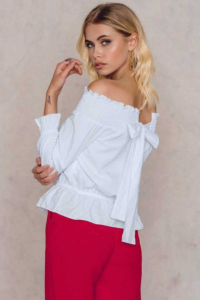 Beyaz Off Shoulder Blouse White