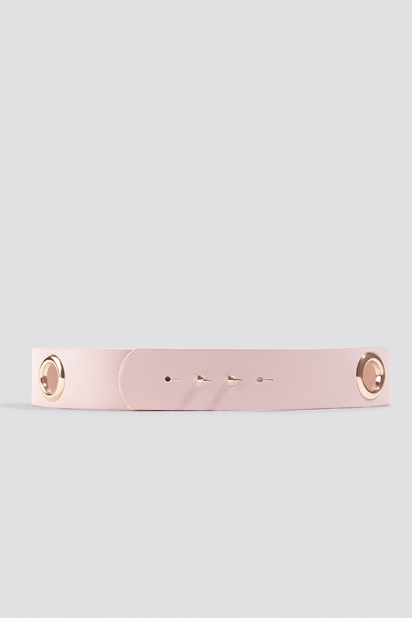 Powder Pink Big Eyelet Belt