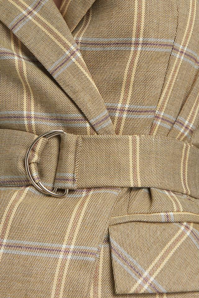 Binding Detail Blazer Beige