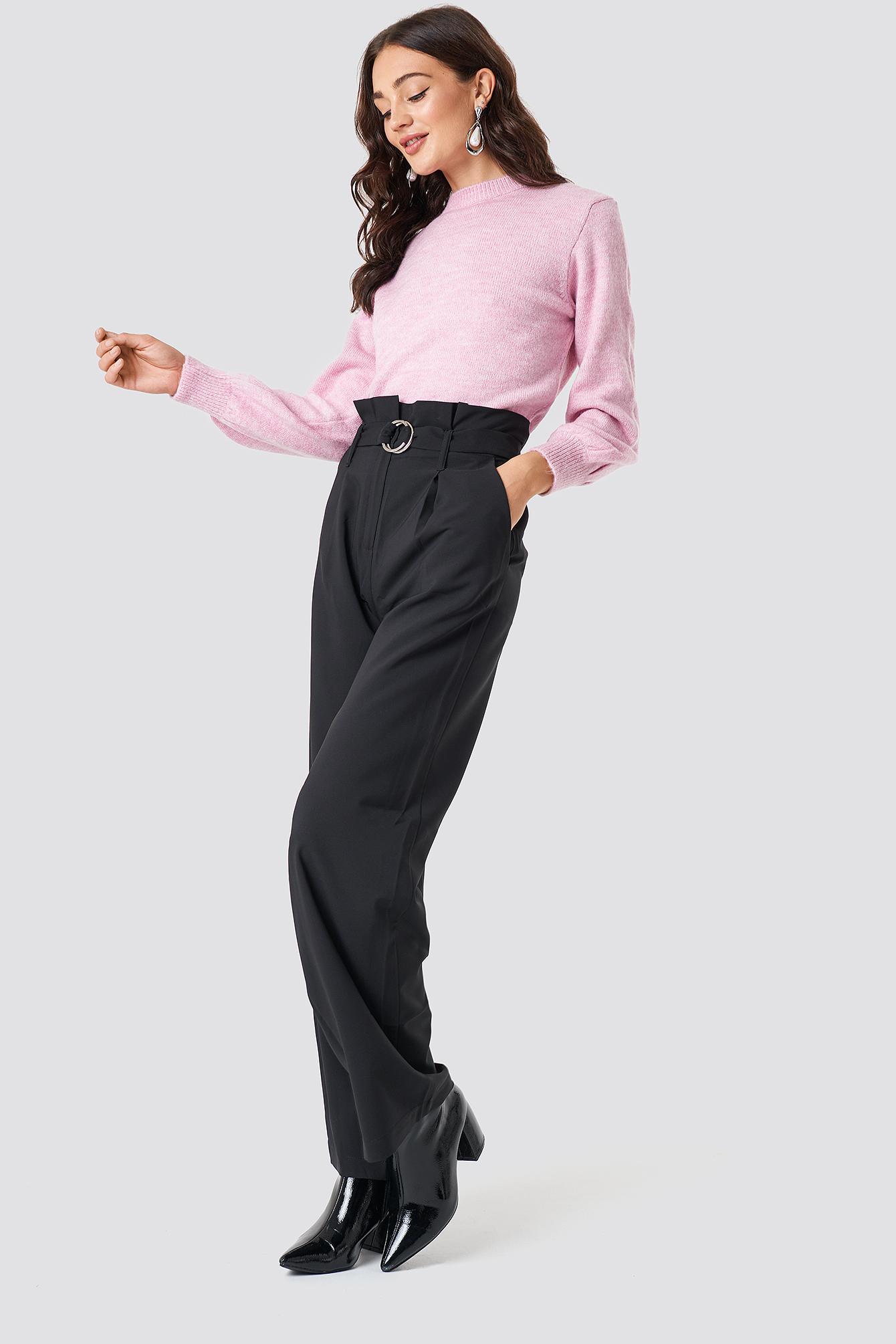 Binding Detail Trousers NA-KD.COM