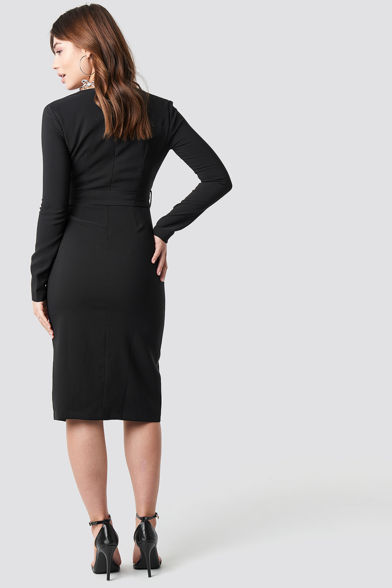 Binding Detailed Midi Dress NA-KD.COM
