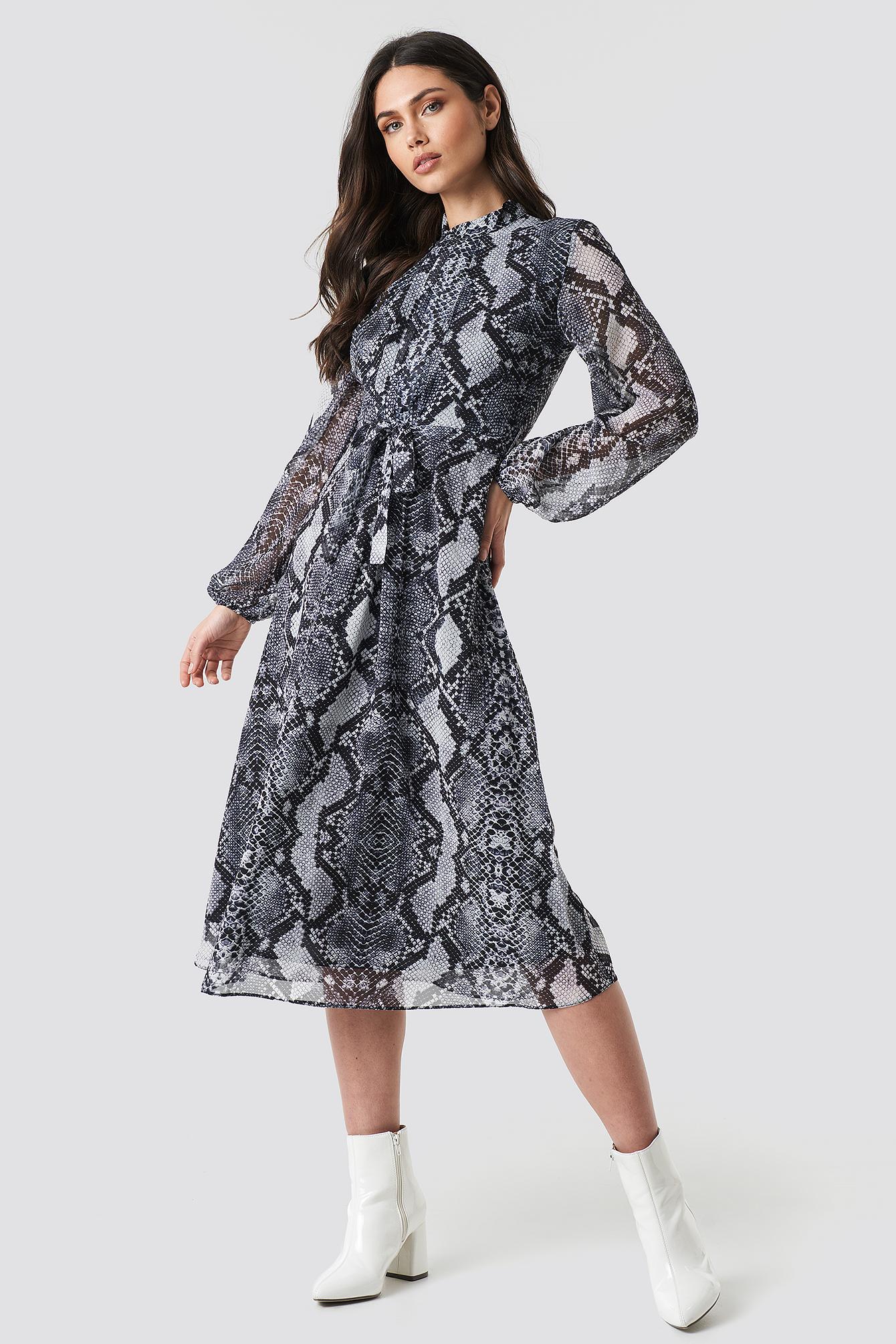 trendyol -  Binding Detailed Mini Dress - Multicolor