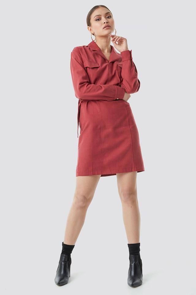 Binding Detailed Mini Dress NA-KD.COM