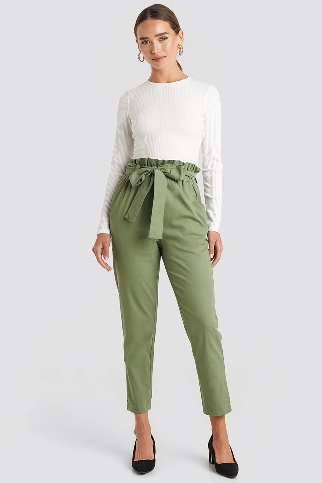 Binding Detailed Trousers Trendyol