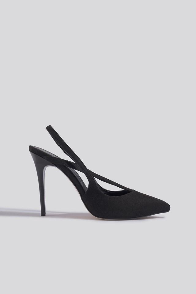Black Suede High Heels Trendyol