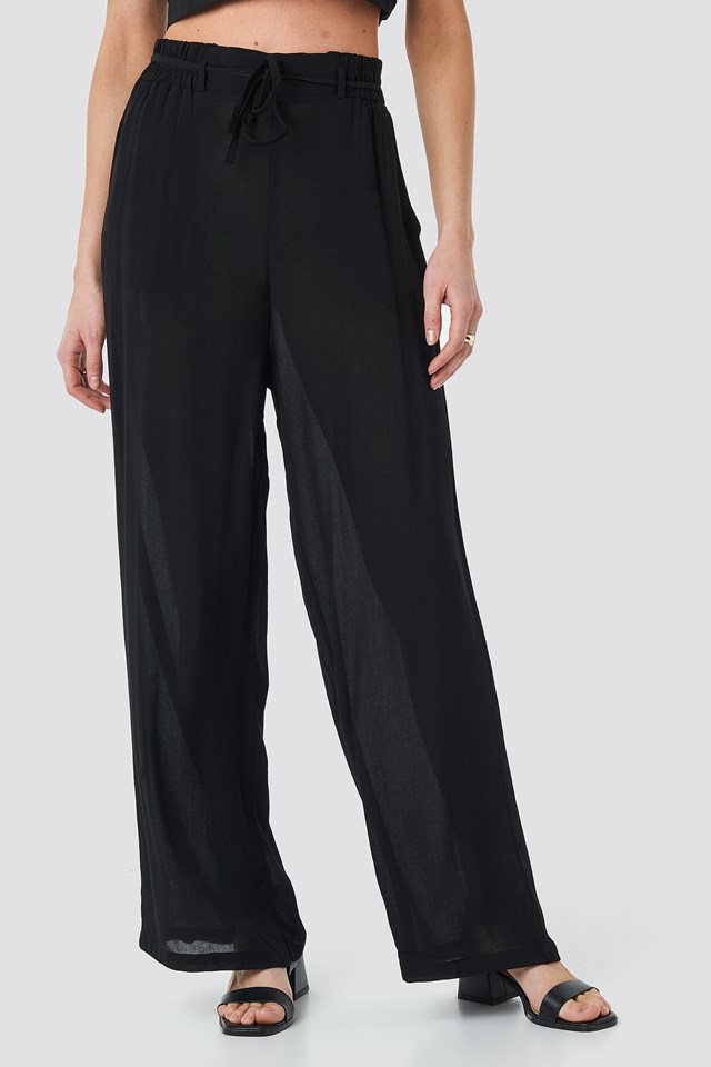 Binding Wide Pants NA-KD.COM