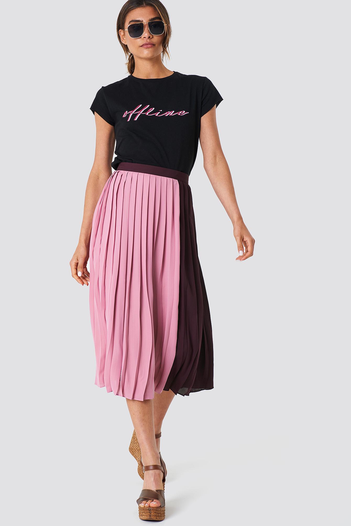 2bef78bc86 Block Midi Skirt Pink | na-kd.com