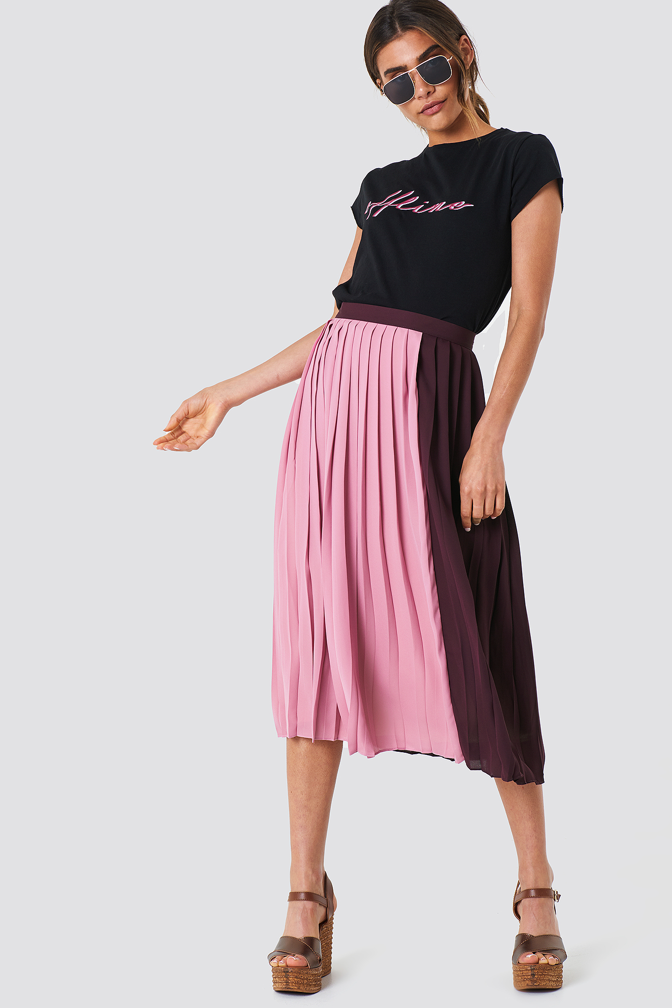 Block Midi Skirt NA-KD.COM