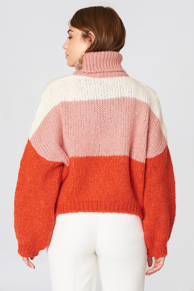 Blocked Color Sweater Multicolor