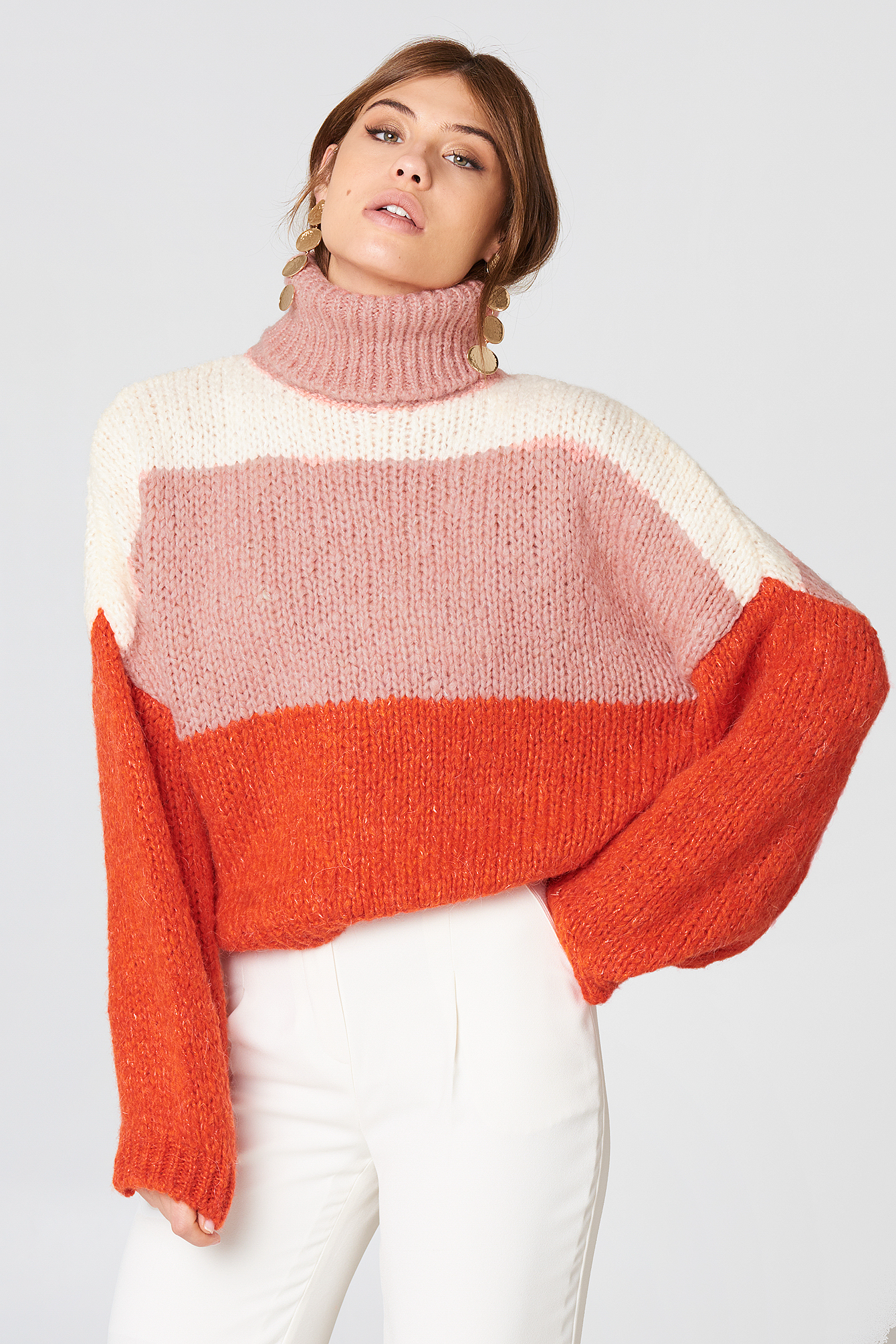 Blocked Color Sweater NA-KD.COM