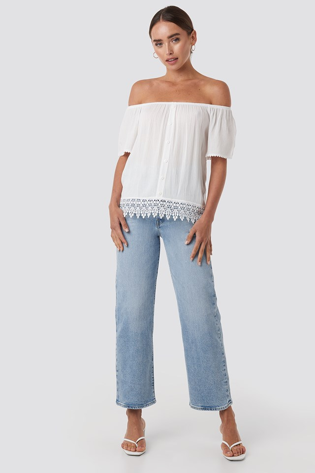 Bora Off Shoulder Top White
