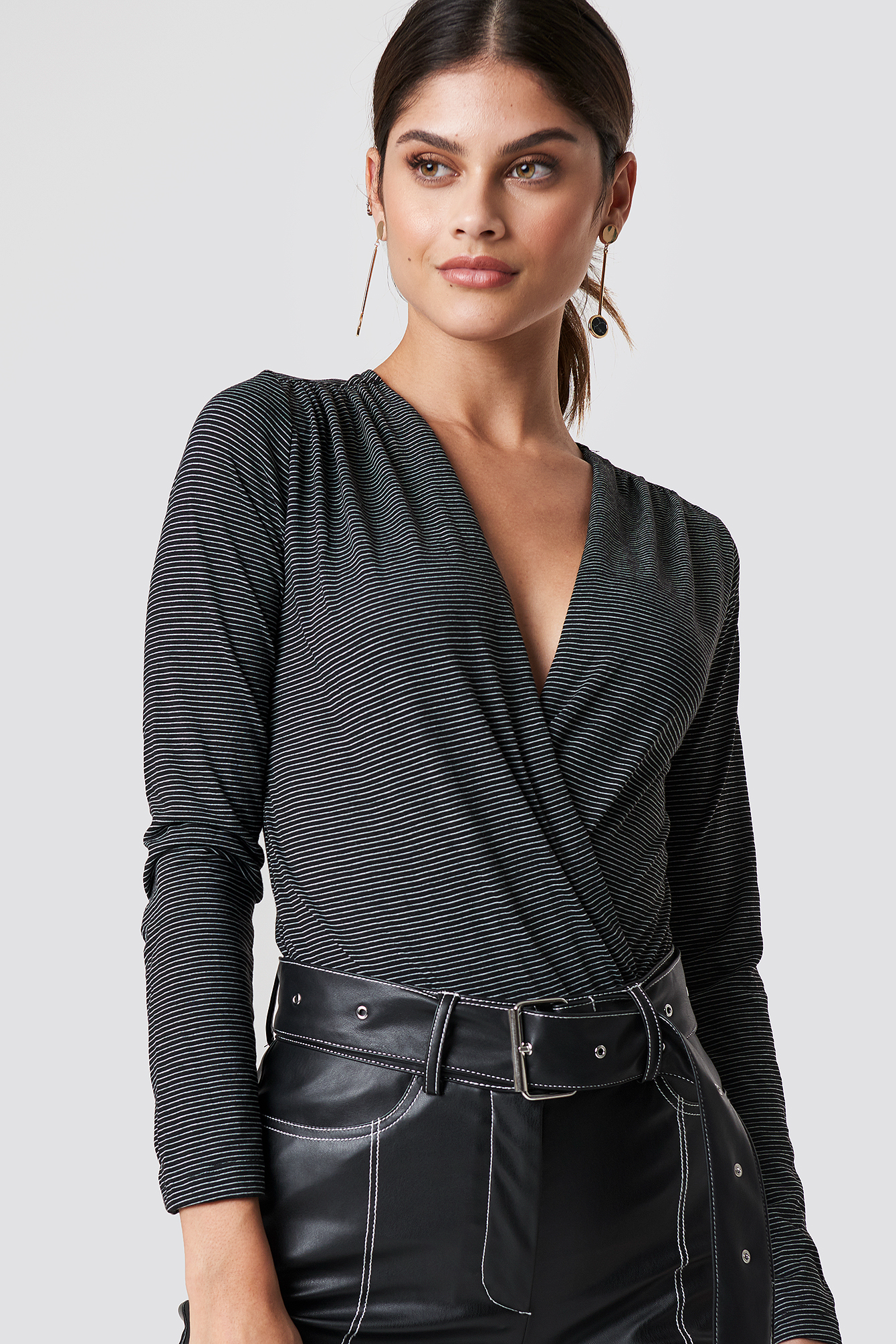 Bottom Snaps Knit Blouse NA-KD.COM