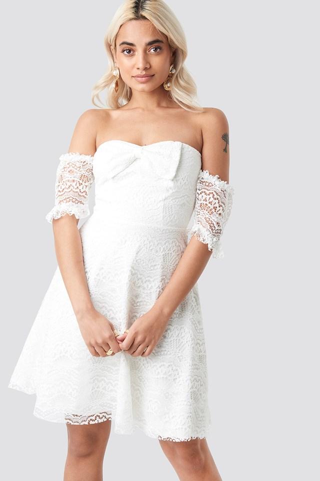 Bow Detailed Mini Dress NA-KD.COM