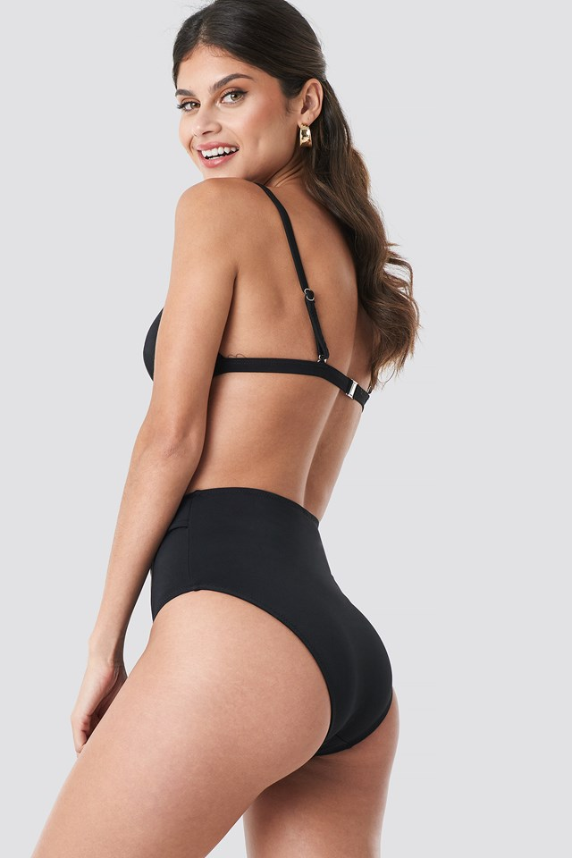 Buckle Detailed Bikini Bottom Black