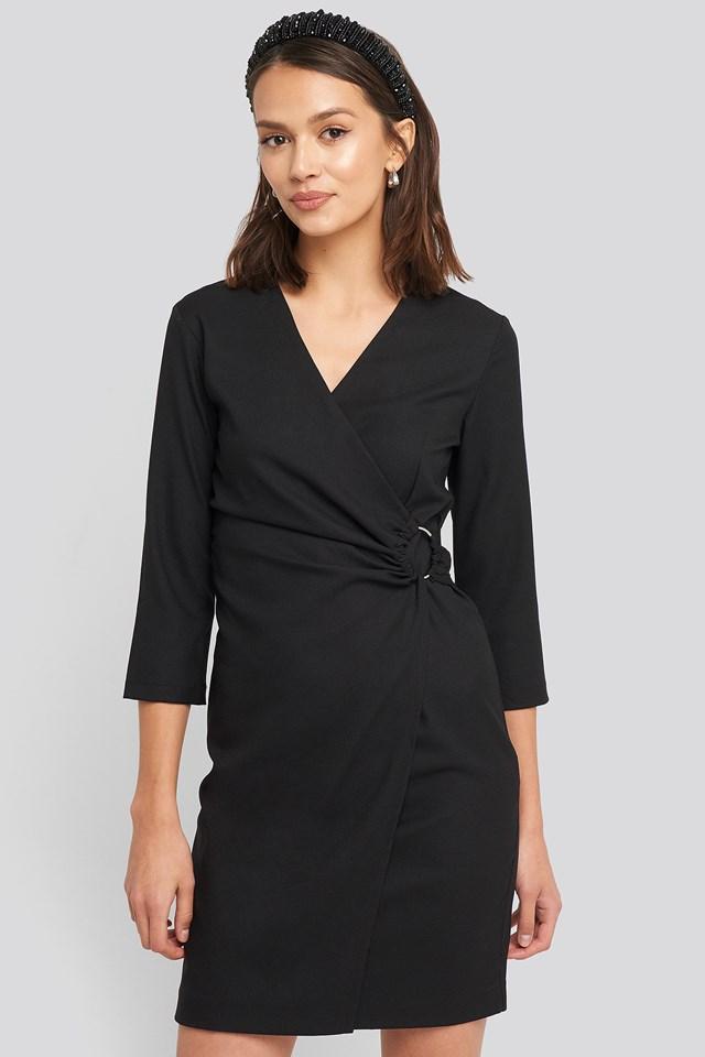 Buckle Detailed Mini Dress Trendyol