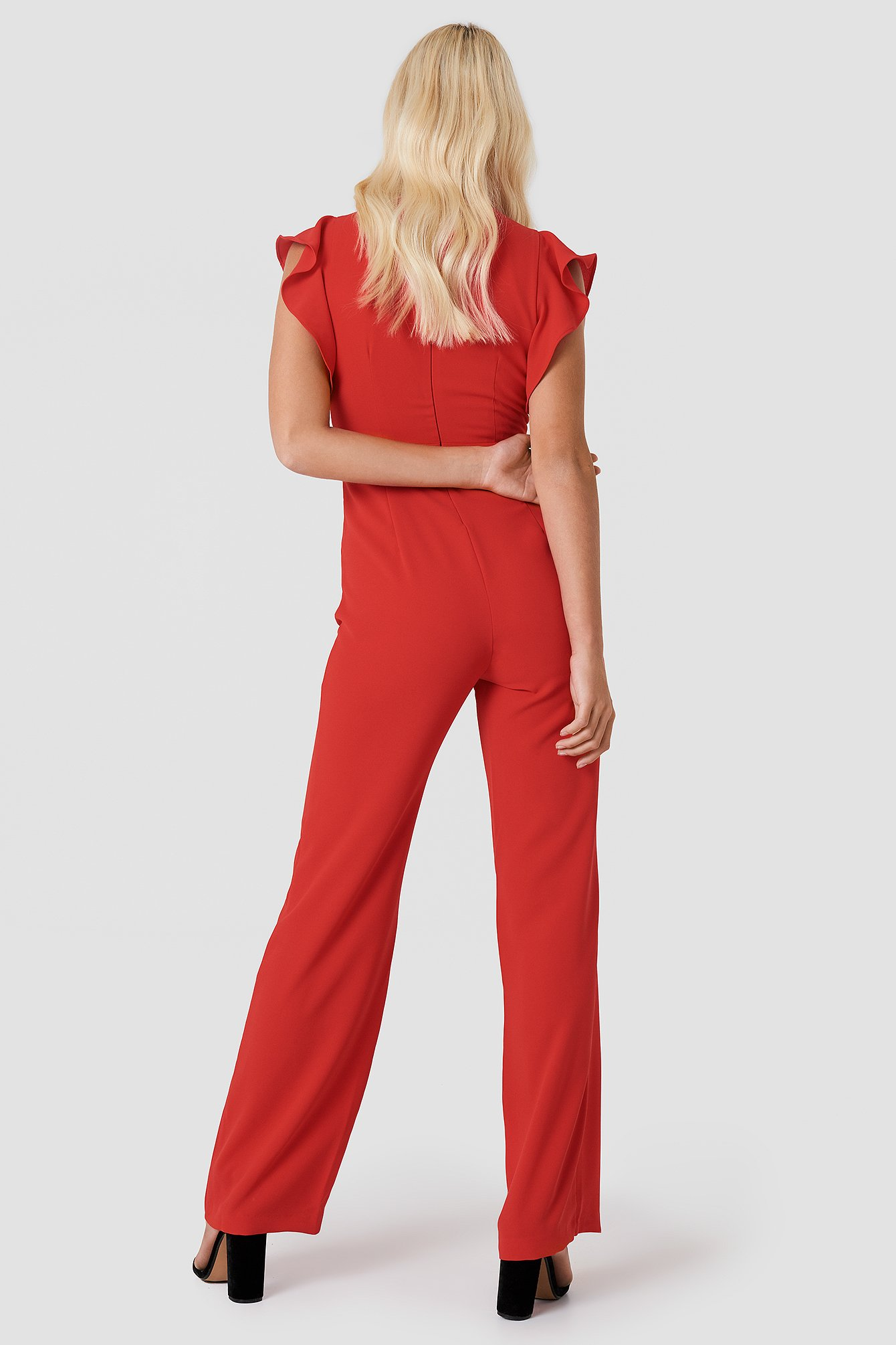 Butterfly Sleeve Jumpsuit NA-KD.COM