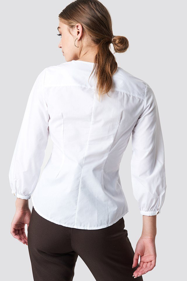 Button Detailed Shirt White