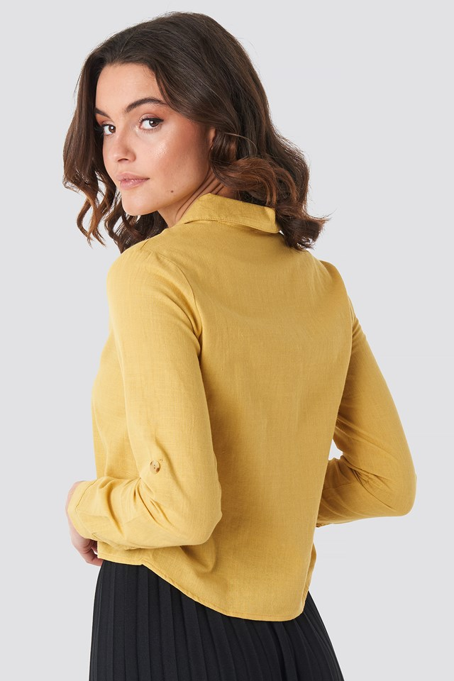 Button Detailed Shirt Yellow