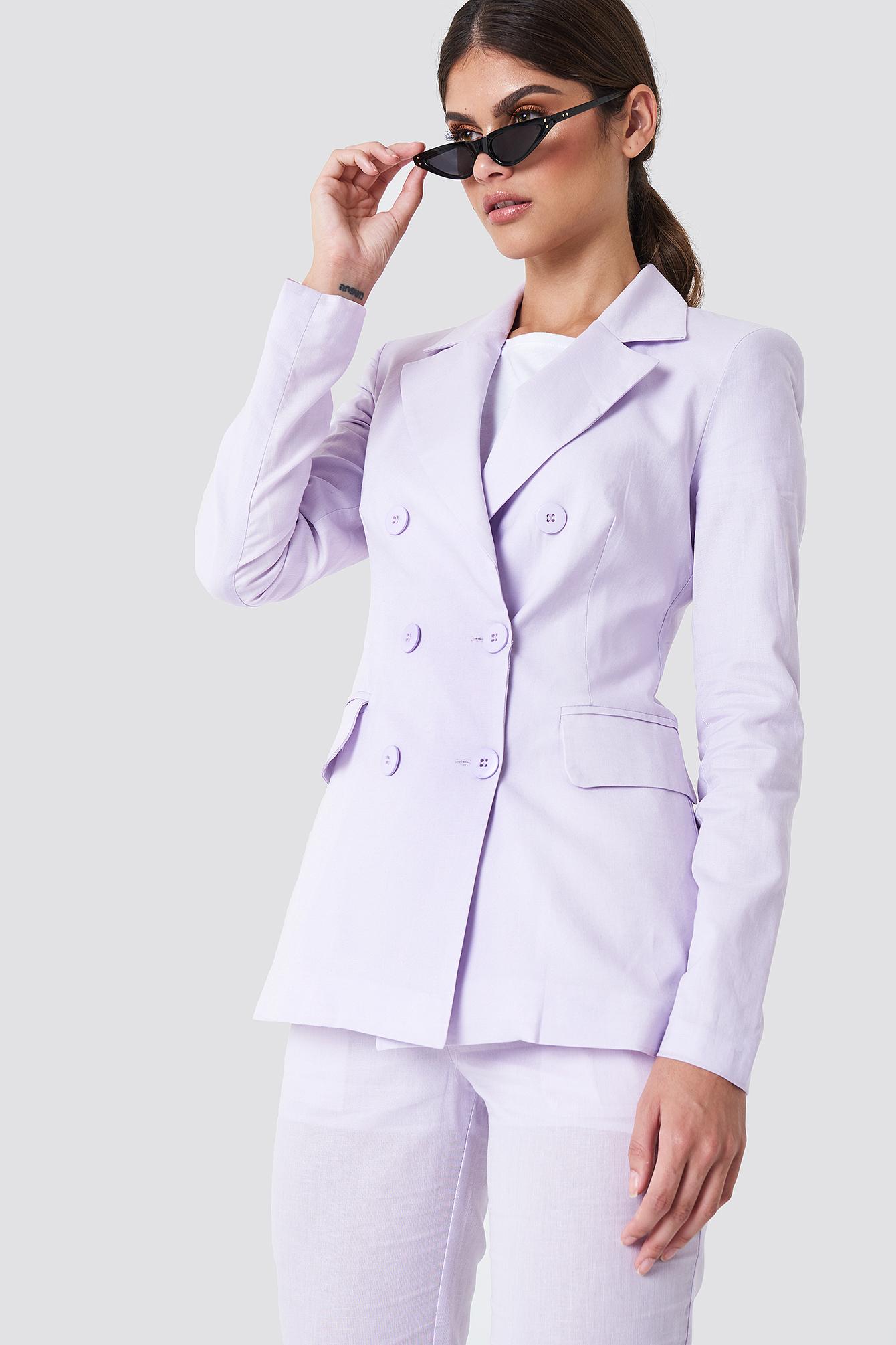 Trendyol Button Detailed Blazer Purple