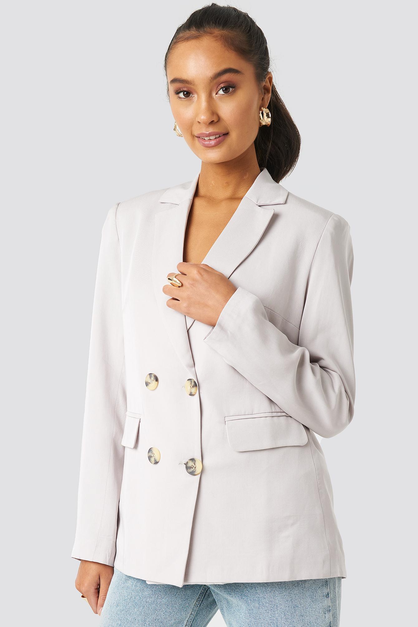 Button Detailed Blazer Jacket NA-KD.COM