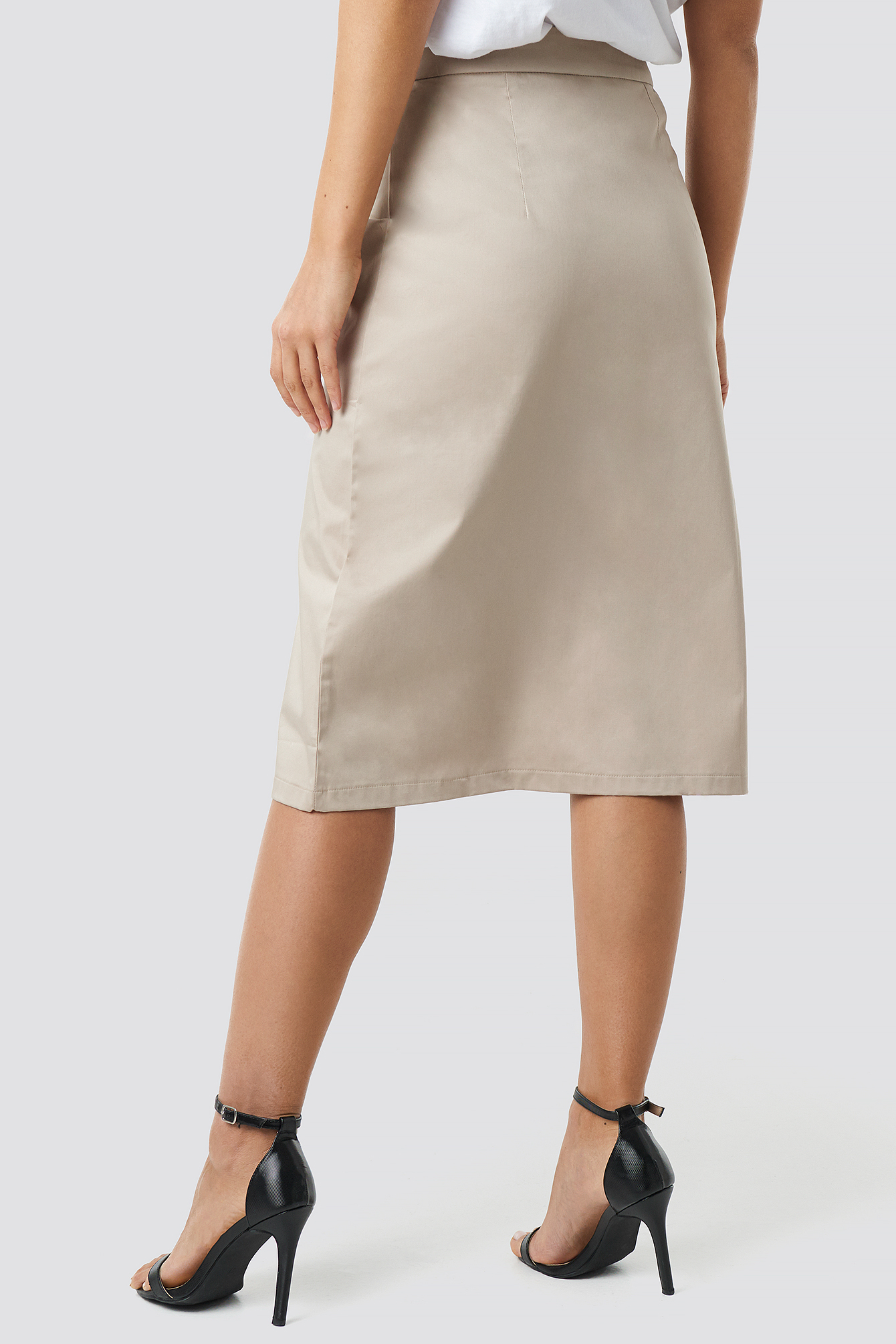 Button Detailed Midi Skirt NA-KD.COM