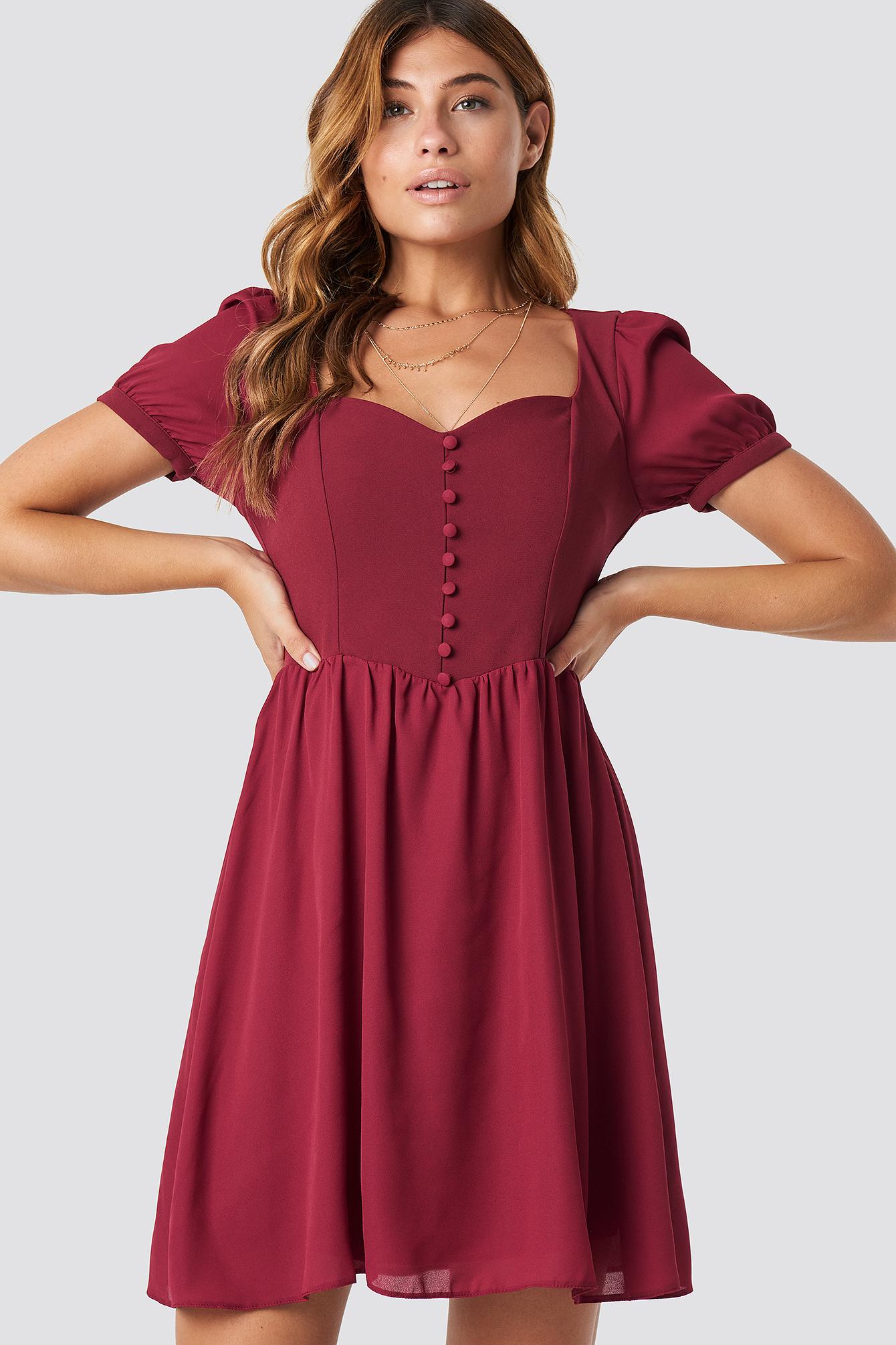 Sukienka mini z guzikami NA-KD.COM