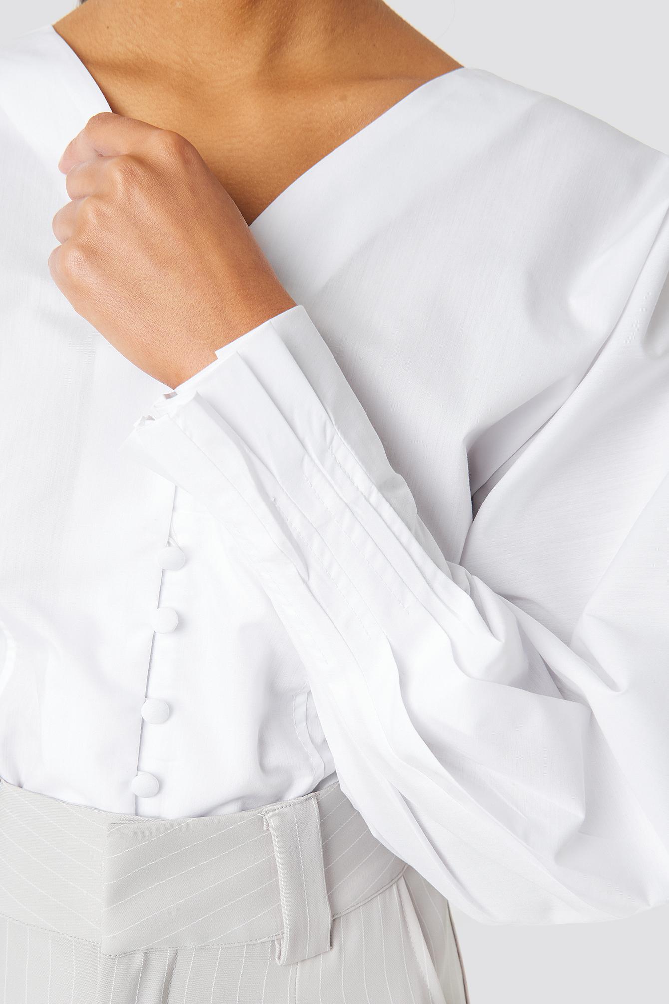 Button Detailed Poplin Shirt NA-KD.COM