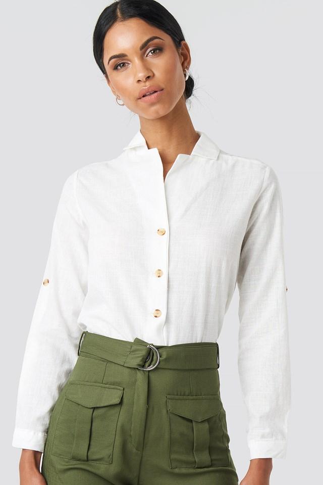 Button Detailed Shirt White