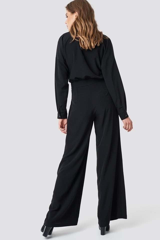 Button Detailed Tulum Jumpsuit Black