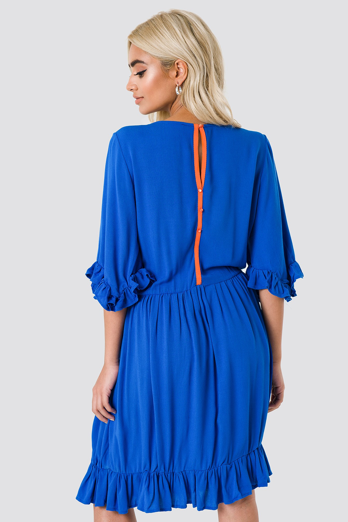 Buttoned Back Midi Dress NA-KD.COM