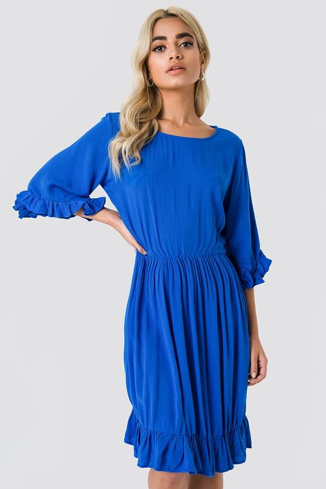 Buttoned Back Midi Dress Trendyol