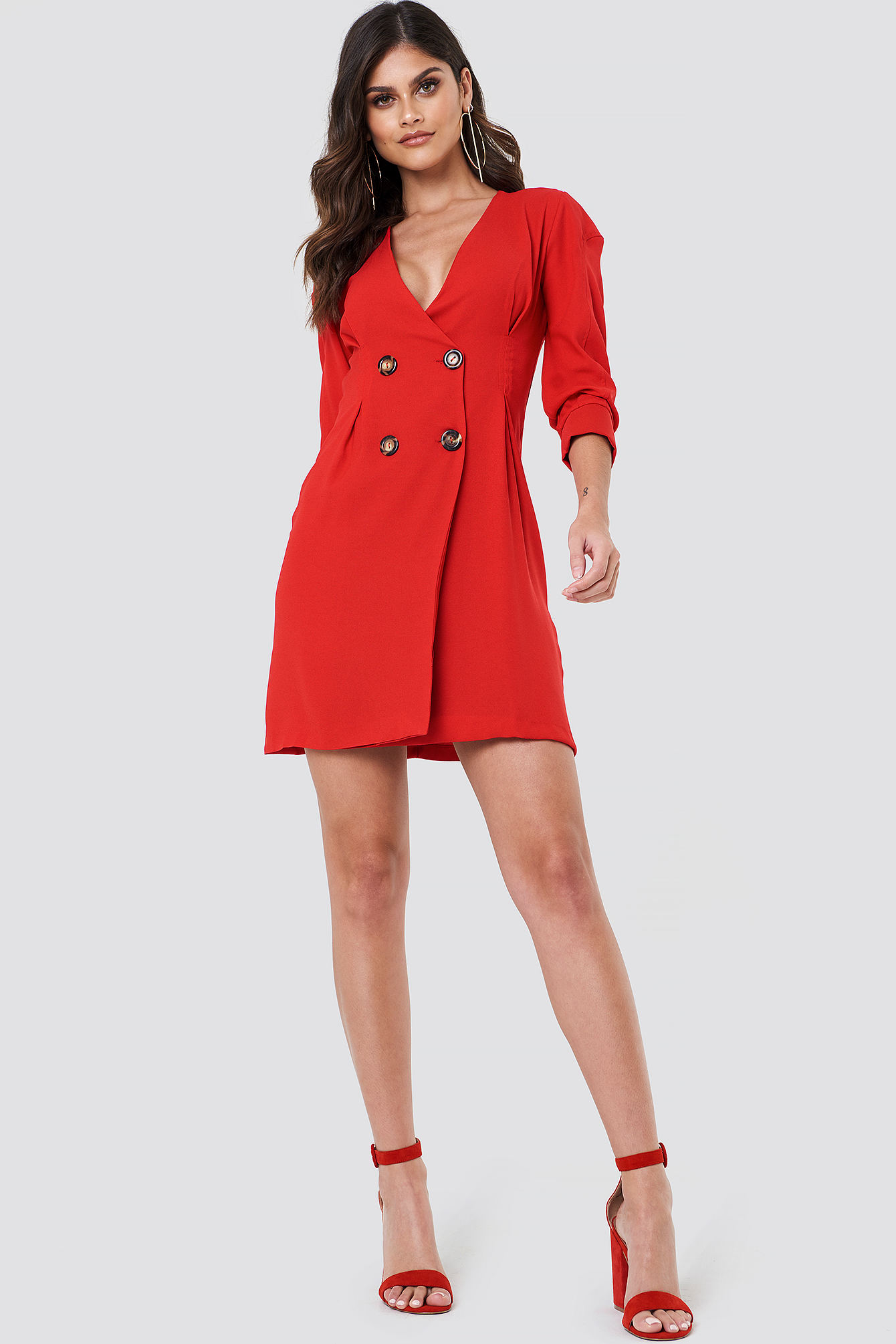 Buttoned Blazer Dress NA-KD.COM