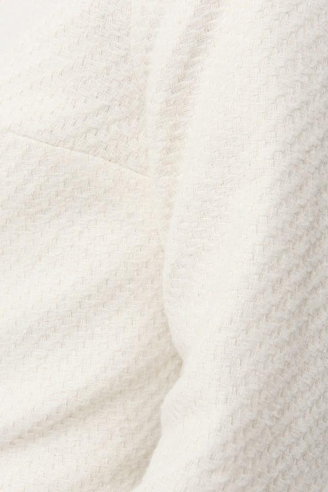 Buttoned Jacket Mini Dress Ecru