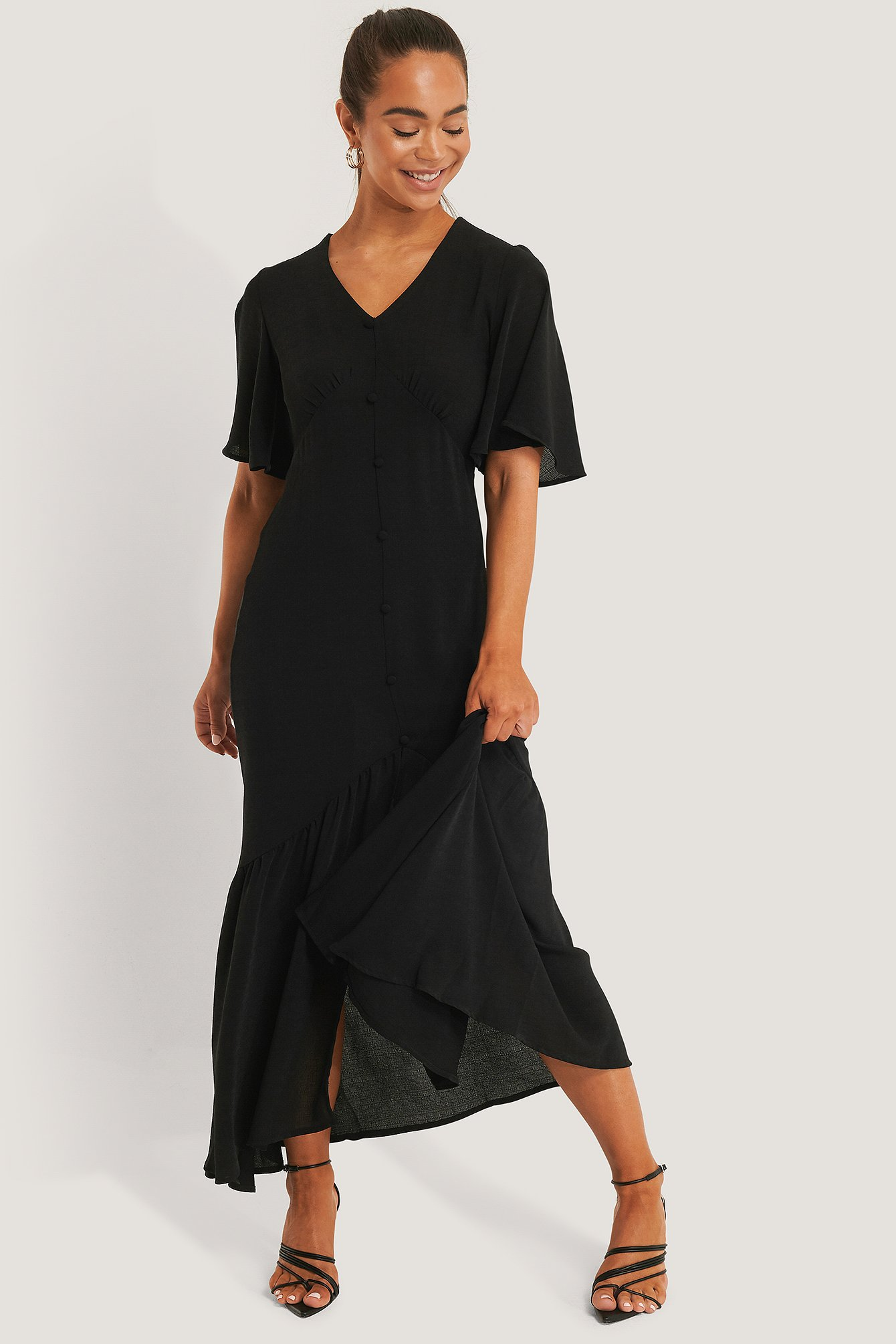 Black Buttoned Maxi Dress