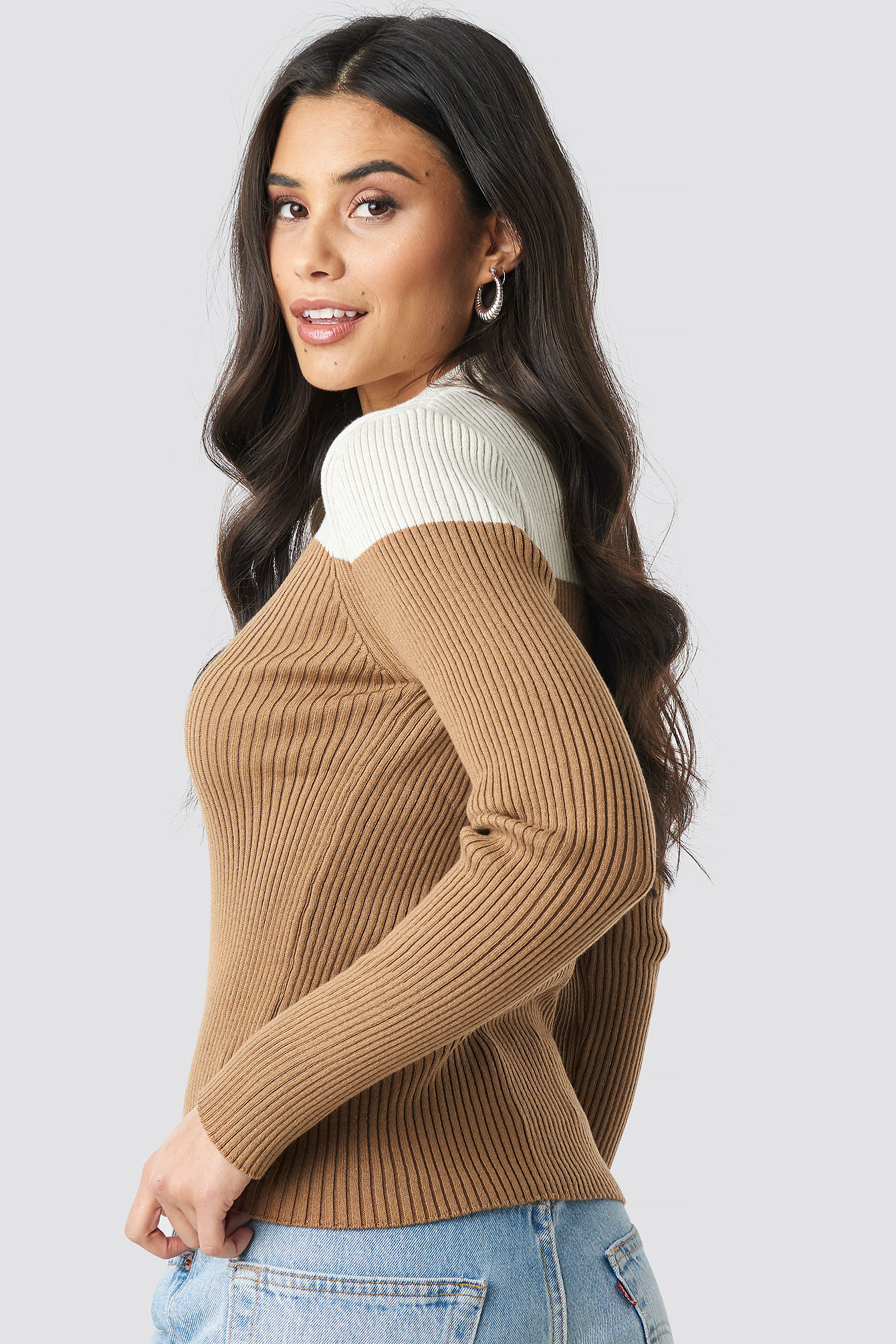 Buttoned Polo Neck Sweater NA-KD.COM