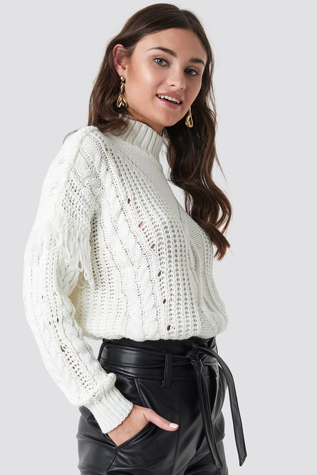 Cable Knit Detailed Sweater NA-KD.COM