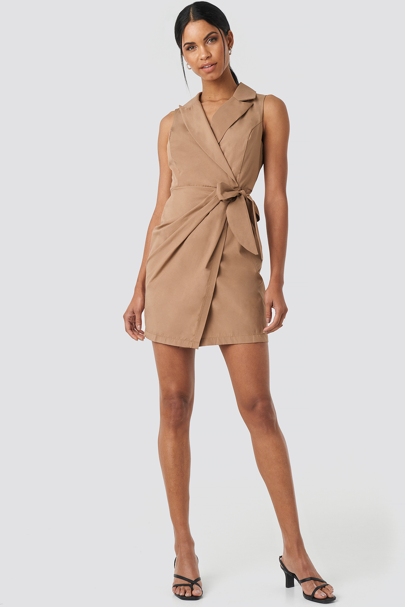 Camel Mini Dress NA-KD.COM