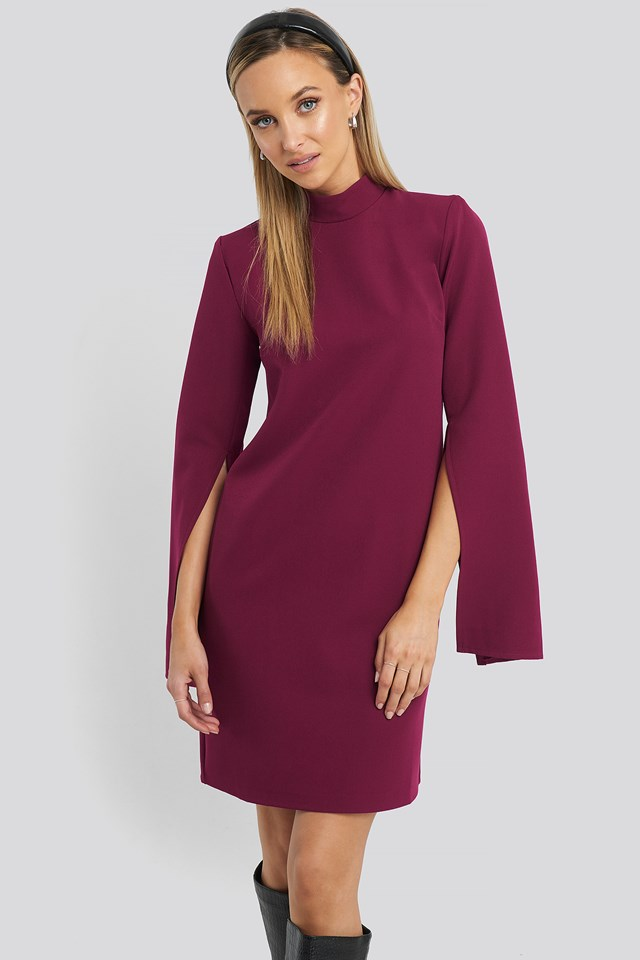 Cape Sleeve Mini Dress Trendyol