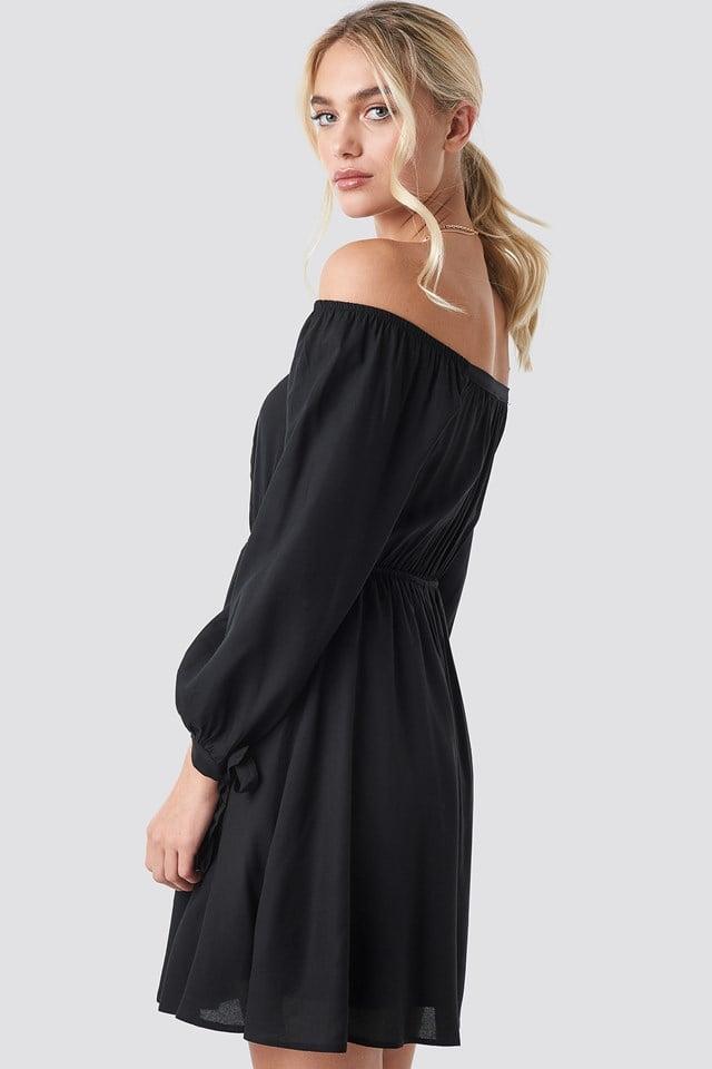 Carmen Collar Dress Black