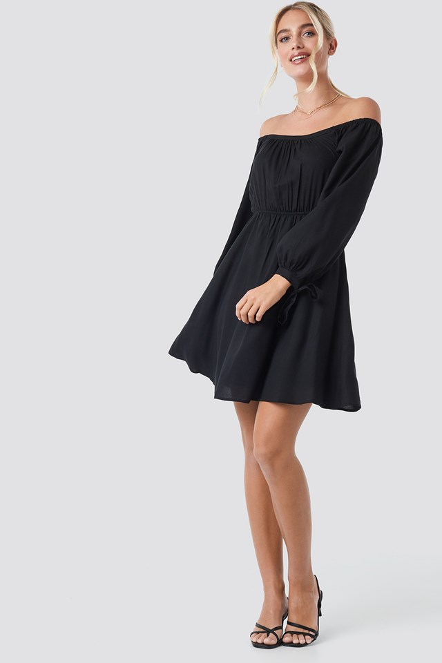 Carmen Collar Dress Black