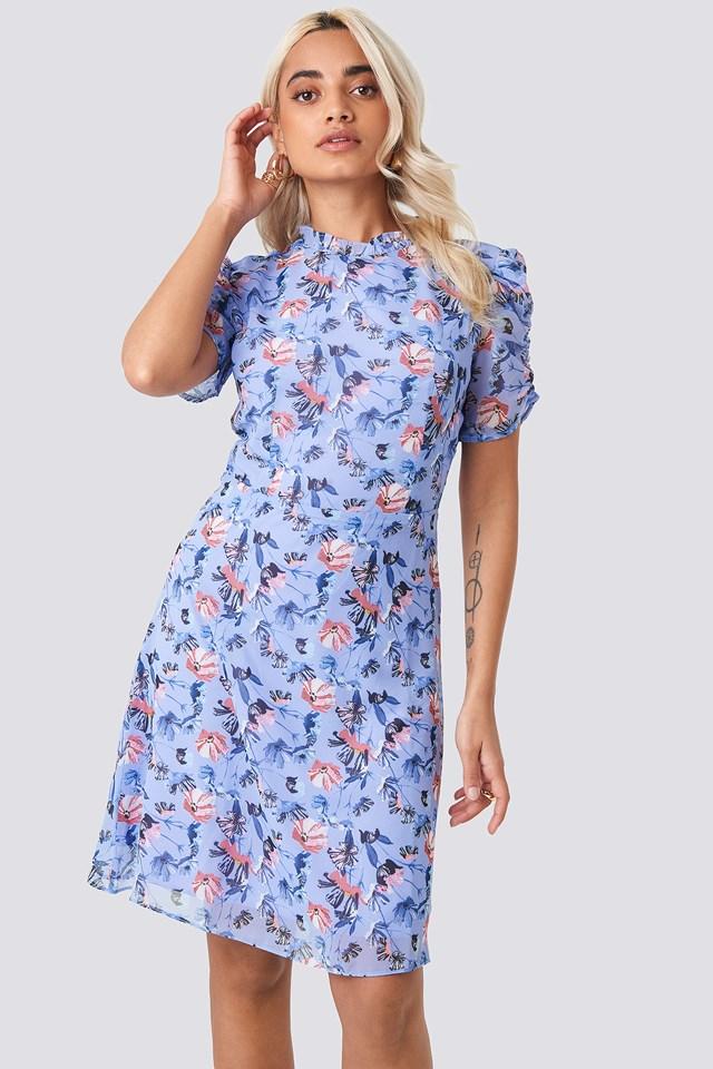 Carmen Floral Patterned Dress Multicolor