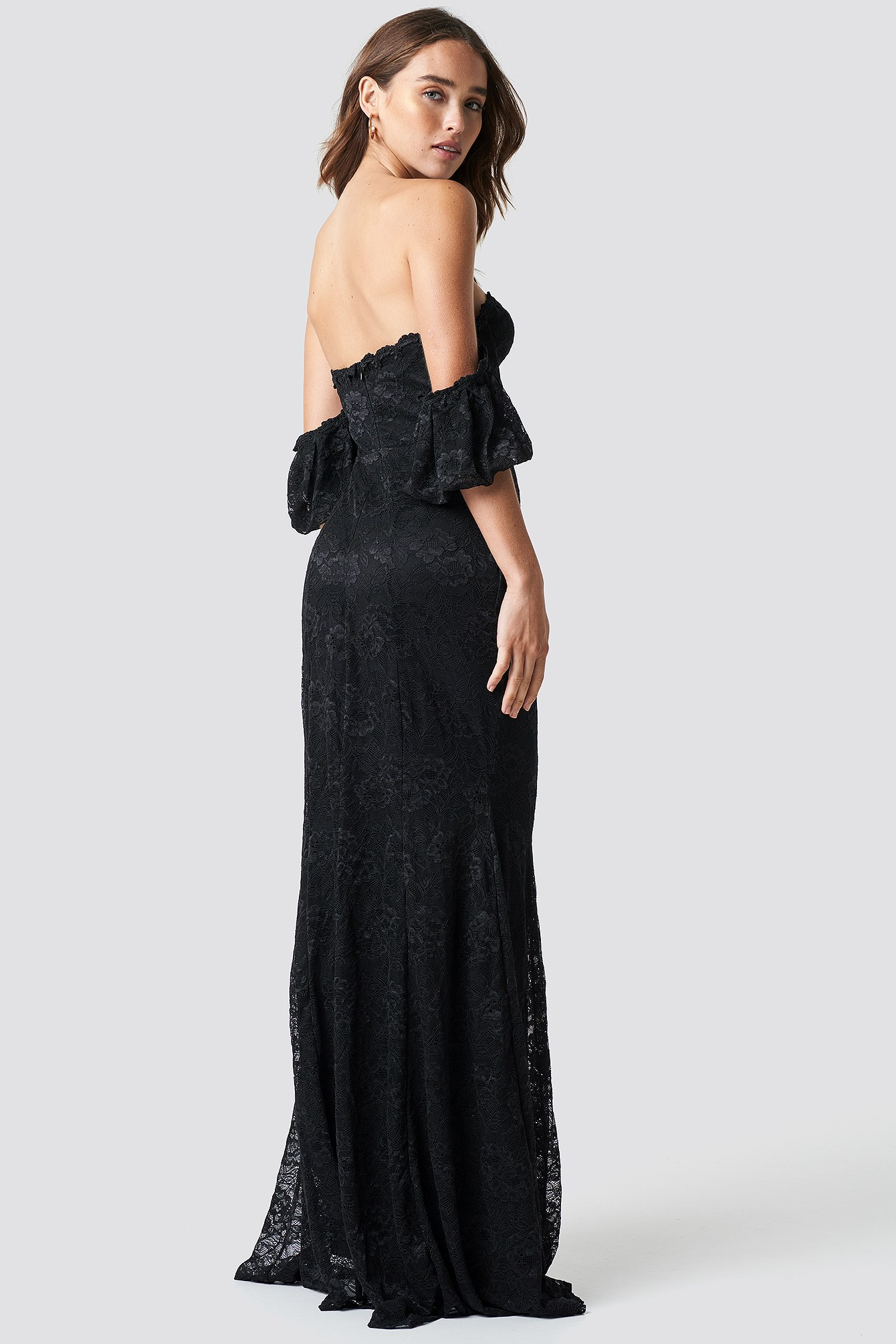 Carmen Lace Maxi Dress NA-KD.COM
